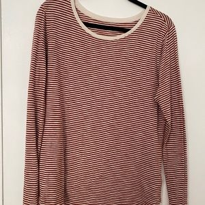 Old Nave Red & White Stripped Tee